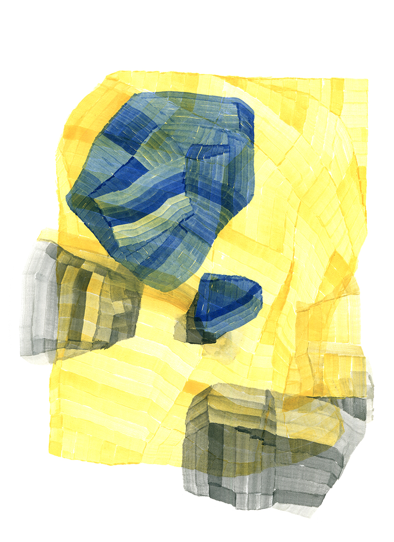 Ink and watercolour drawings
