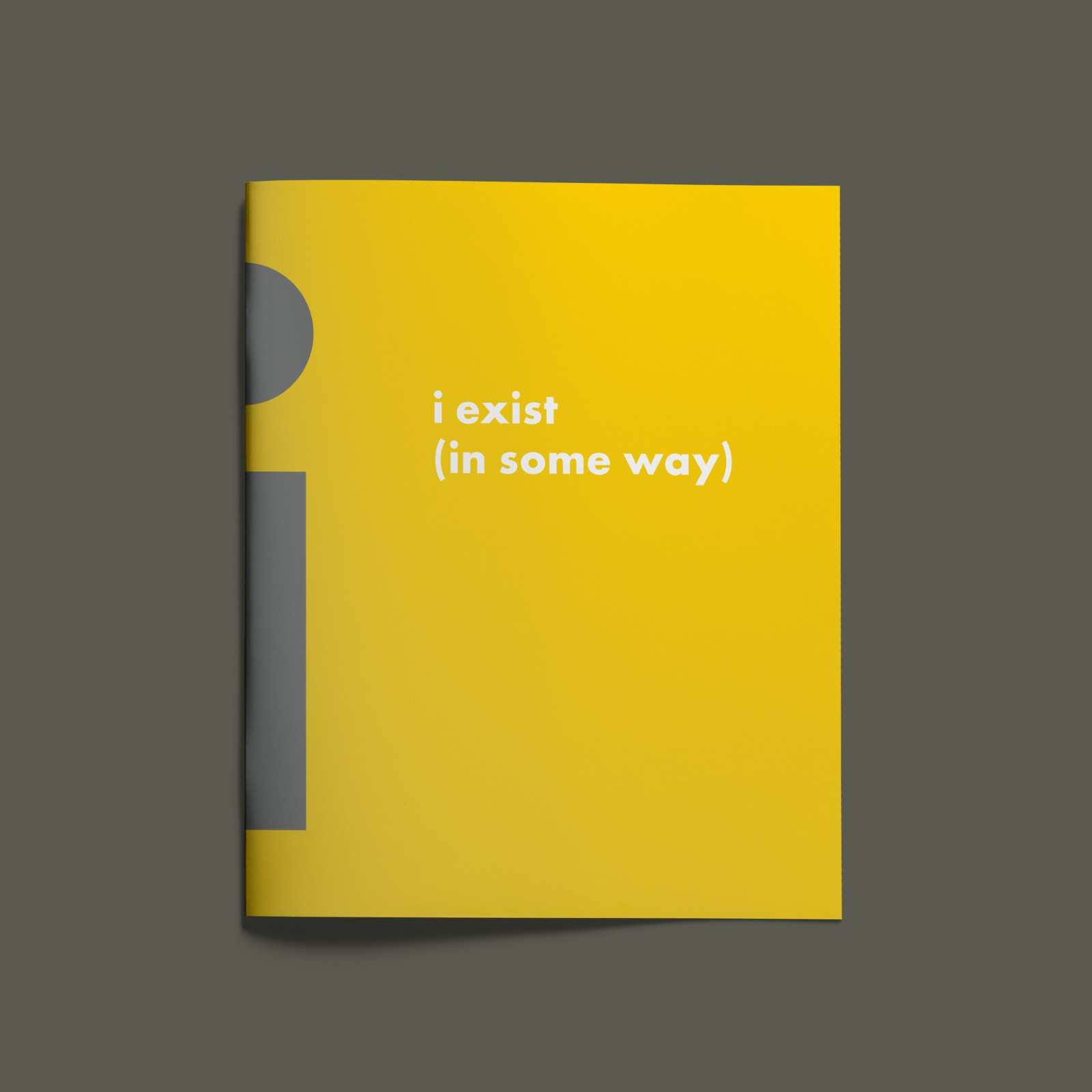 Exhibition catalogue: I Exist