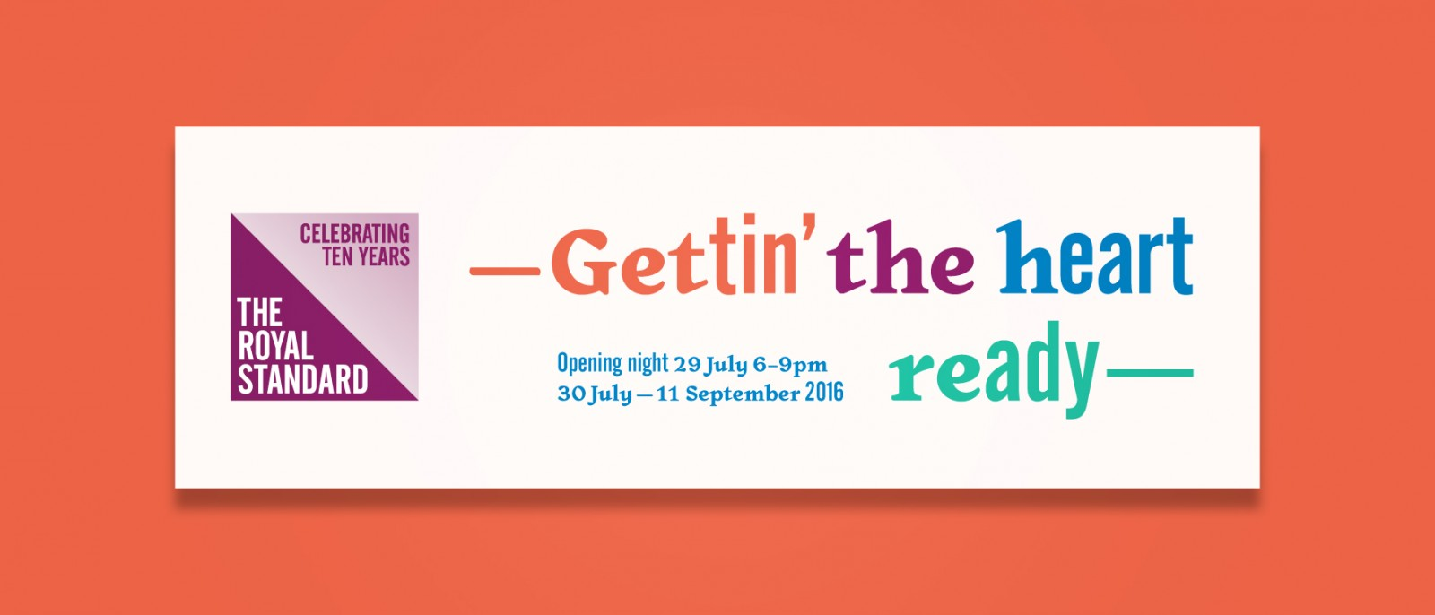 Gettin' the heart ready exhibition graphics
